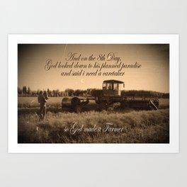 8th Day - Farmer Art Print