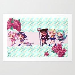 Outer Senshi - Chibis Art Print