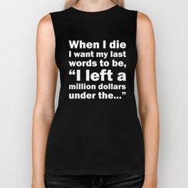 When I Die Funny Graphic T-shirt Biker Tank