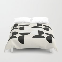 Black Petals Duvet Cover