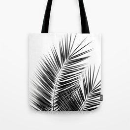 Black Palm Leaves Dream - Cali Summer Vibes #1 #tropical #decor #art #society6 Tote Bag