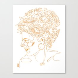Sunflowers in my head Canvas Print