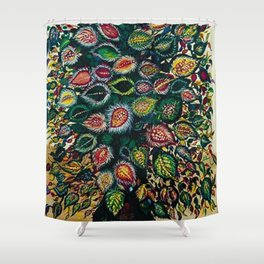 Feuilles - Leaves and Flowers by Seraphine Louis Shower Curtain