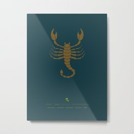 Scorpio Zodiac / Scorpion Star Sign Poster Metal Print