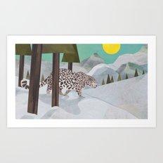 Snow Leopard January 2014 Print #2 Art Print
