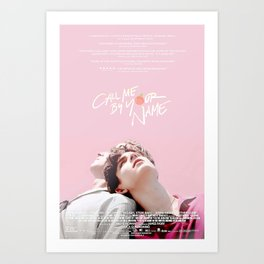 Call Me By Your Name Pink Art Print