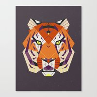 fierce Canvas Prints featuring Fierce by Nayla Smith