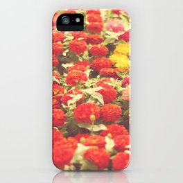 I'd like to lie in a bed of flowers iPhone Case