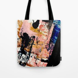 01016 : a bold abstract in pink, orange, blue, and black Tote Bag