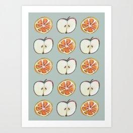 Comparing Apples to Oranges Art Print