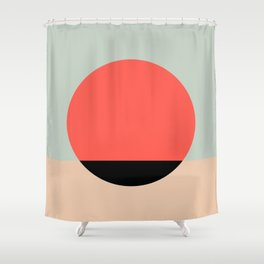 Relaxing graphic Shower Curtain