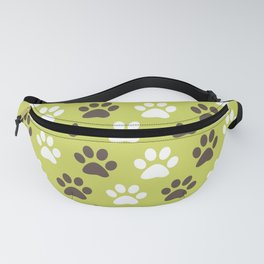 Animal Paw Print Pattern Green Fanny Pack