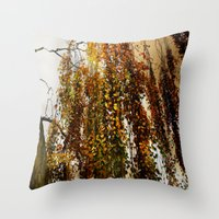 birch Throw Pillows featuring Birch by TakaTuka Photo