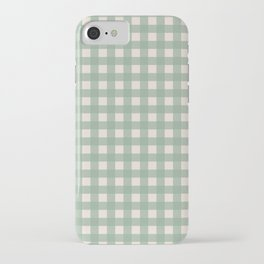 Buffalo Checks Plaid in Sage Green on Cream iPhone Case