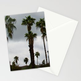 Cloudy Day Palms on the Hillside Stationery Cards