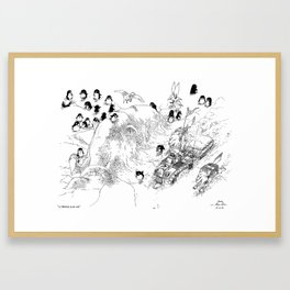 La Traversée du Lac Gelé / Crossing the Frozen Lake Framed Art Print