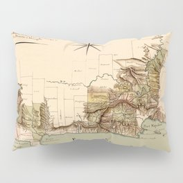 Map Of Dominican Republic 1807 Pillow Sham