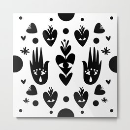 Hearts in Bloom Metal Print