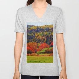 Explosion of Autumn Colors Unisex V-Neck