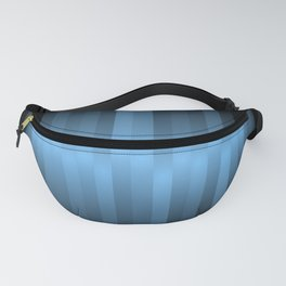 Blue Pulse Gradient - Blue Abstract Art Piece Fanny Pack