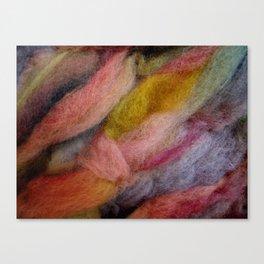 Mixed pink wool Canvas Print