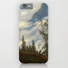 Caspar David Friedrich - Mountain Peak with Drifting Clouds (1835) iPhone Case