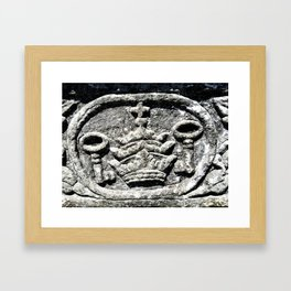 Ancient Church Carvings Framed Art Print