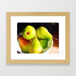 Pear check Framed Art Print