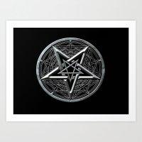 pentagram Art Prints featuring Pentagram by Rab Sizzle