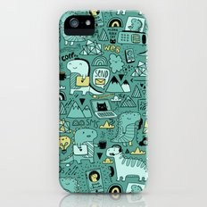 Communication Dinosaurs iPhone (5, 5s) Slim Case