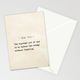 Sun Tzu quote Stationery Cards