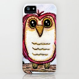 Owl at Rest - Watercolor iPhone Case