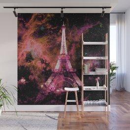 Paris Dreams Fuchsia Pink Peach Wall Mural