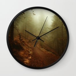 Autumn in Ponderosa Pines Forest Wall Clock