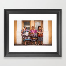 Tres Framed Art Print