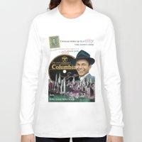 frank sinatra Long Sleeve T-shirts featuring Frank Sinatra - New York by Dots Studio