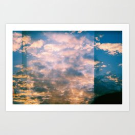 ALMOST SUNSET Art Print