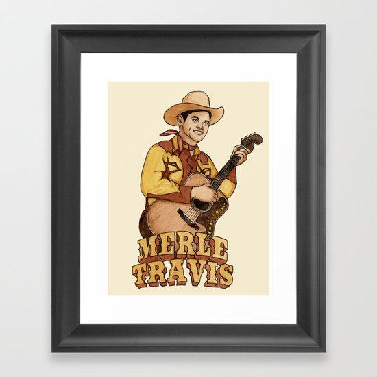Merle Travis Framed Art Print