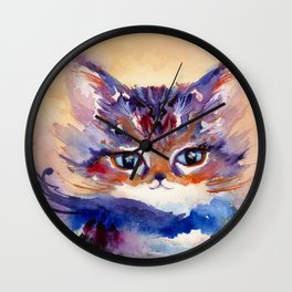 Lionmew Embarks on a Grand Adventure Wall Clock