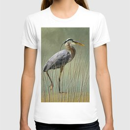 Great Blue At The Beach T-shirt