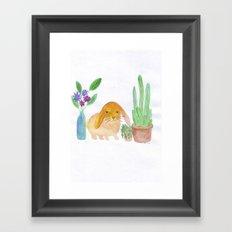 Rabbit cactus  Framed Art Print