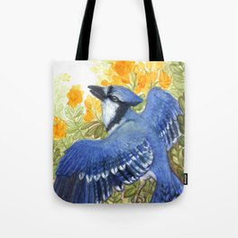 Blue Jay in the Cassia Thicket Tote Bag
