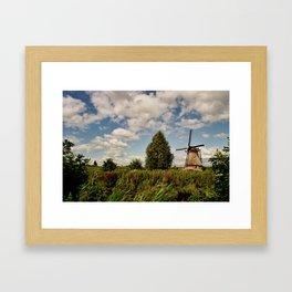 Wind at Kinderdijk Framed Art Print