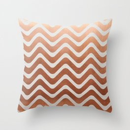 Copper and Paper Throw Pillow
