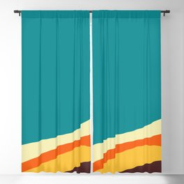Flat abstract design backgrounds  Blackout Curtain