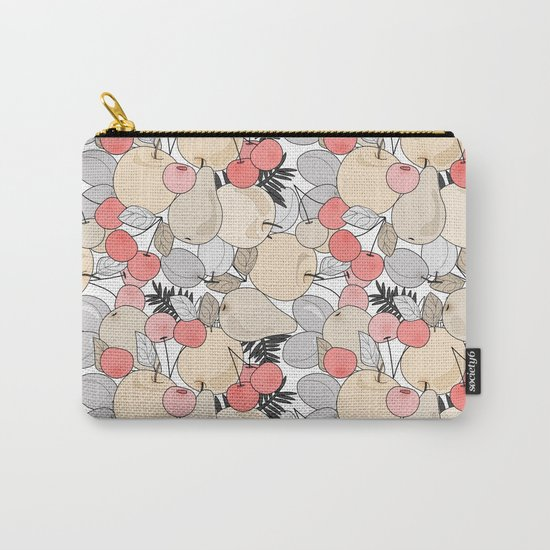Retro pattern . Fruits and berries . Carry-All Pouch