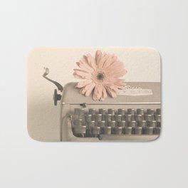 Soft Typewriter (Retro and Vintage Still Life Photography) Bath Mat