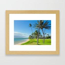 Waipuilani Beach Kihei Maui Hawaii Framed Art Print