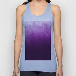 Purple Watercolor On Cotton Unisex Tank Top