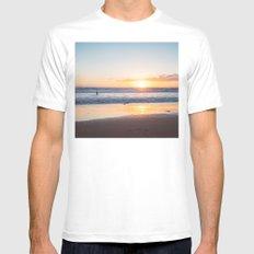 Venice Beach Surfer III White MEDIUM Mens Fitted Tee